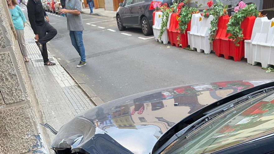 Accidente en la calle Manuel de Ossuna