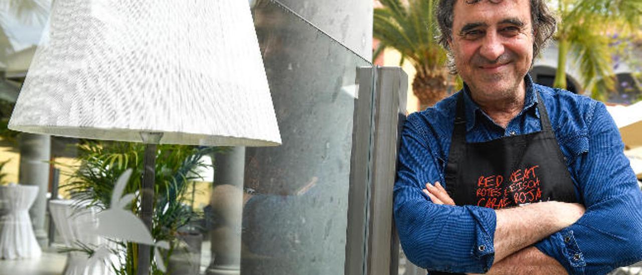 El empresario Imanol Jaca, ayer, en la inauguración del restaurante Ovo en el Hotel Lopesan Villa del Conde.