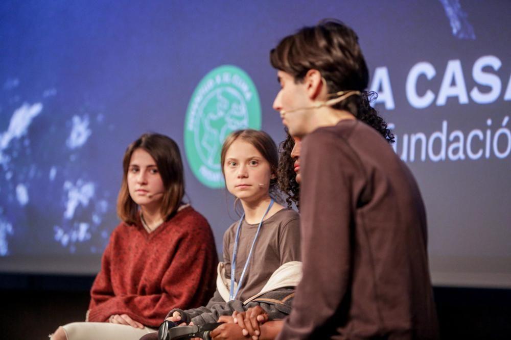 Greta Thunber en la cumbre del clima.