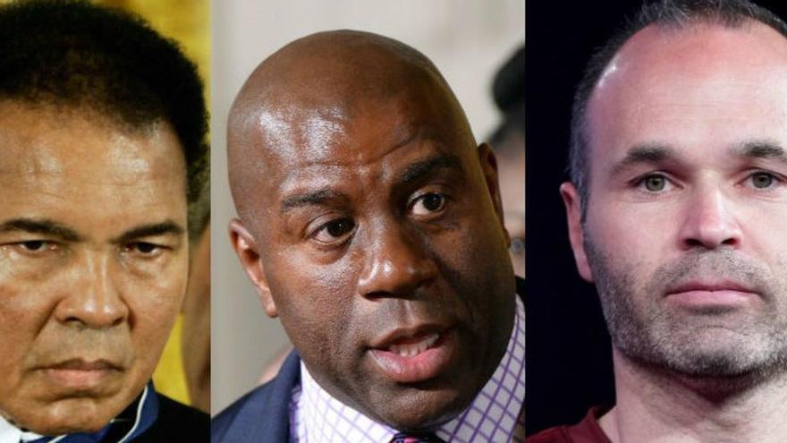 Magic, Ali, Ashe, Iniesta... la lucha de grandes deportistas contra las enfermedades