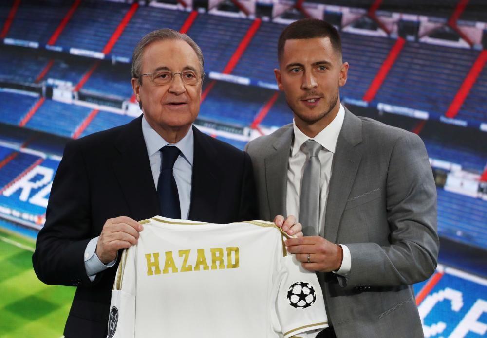 Presentación de Eden Hazard en el Bernabéu
