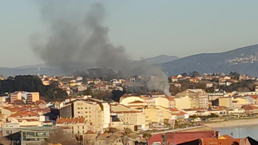 Incendio en una vivienda en Coiro