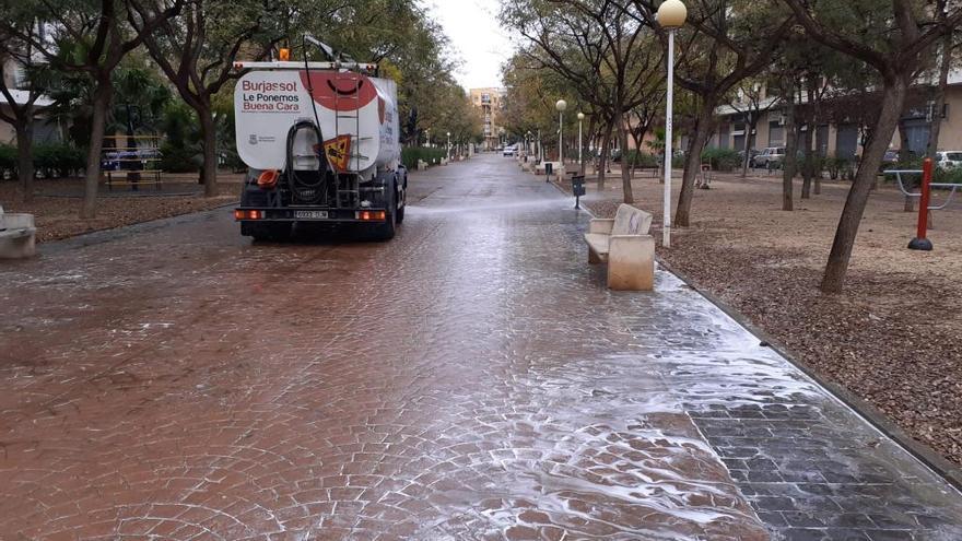 Burjassot aplica medidas de desinfección en sus calles