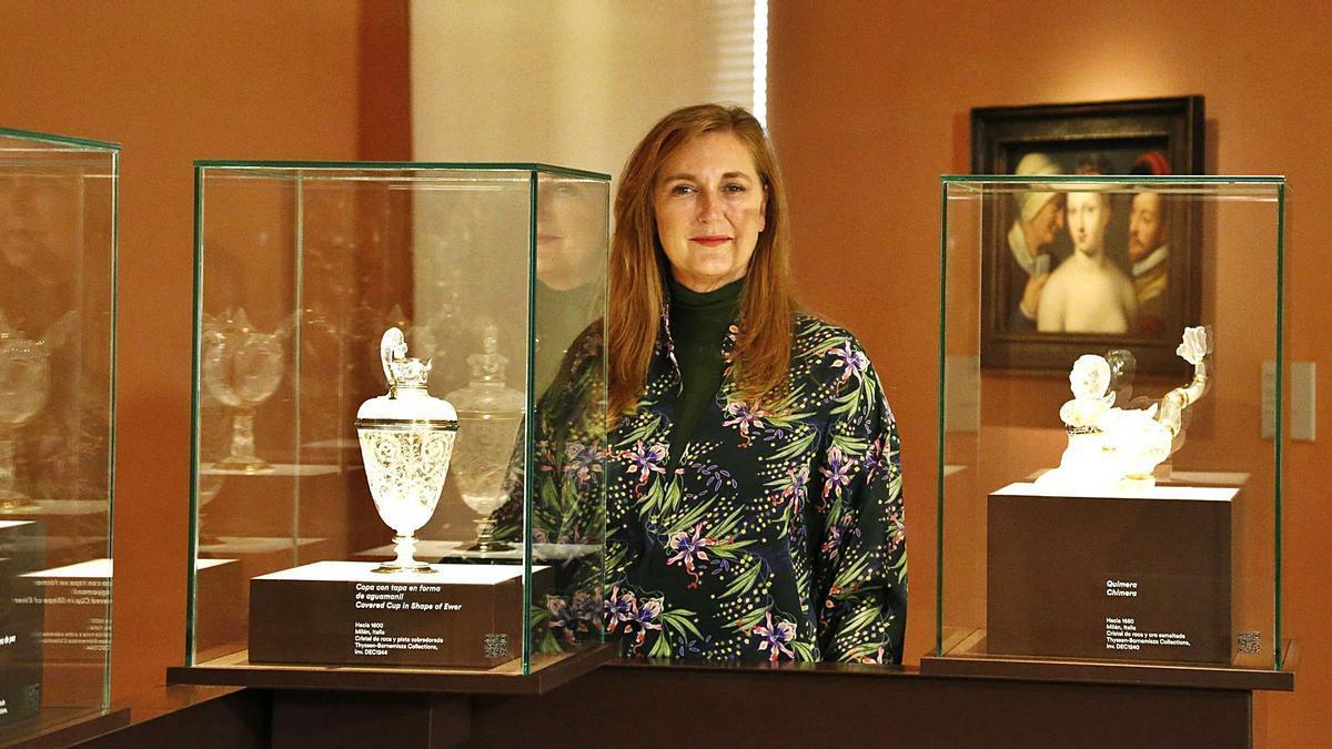 Francesca Thyssen, hija del barón, en la inauguración de la muestra en Madrid, el lunes pasado. | | JOSÉ VELASCO / EUROPA PRESS