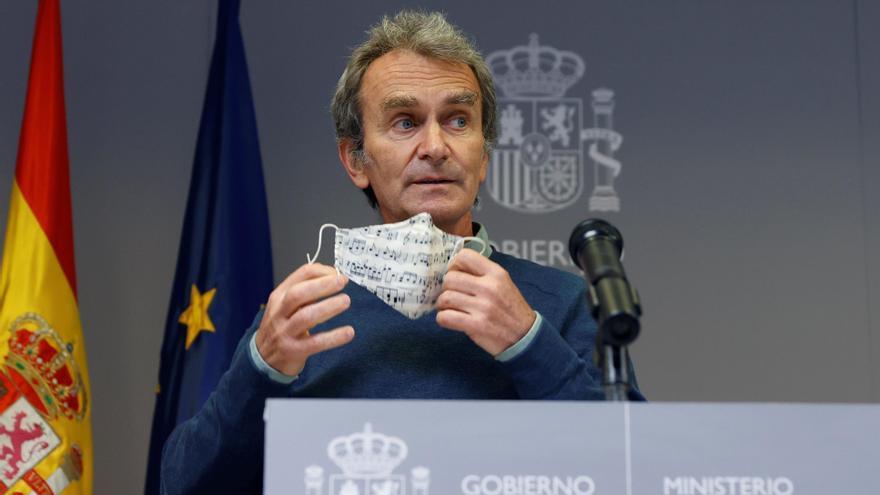 Fernando Simón informa en rueda de prensa de la evolución de la pandemia