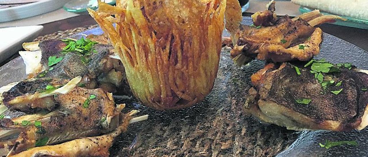 Caretas fritas de bacalao de Celia Pinto.