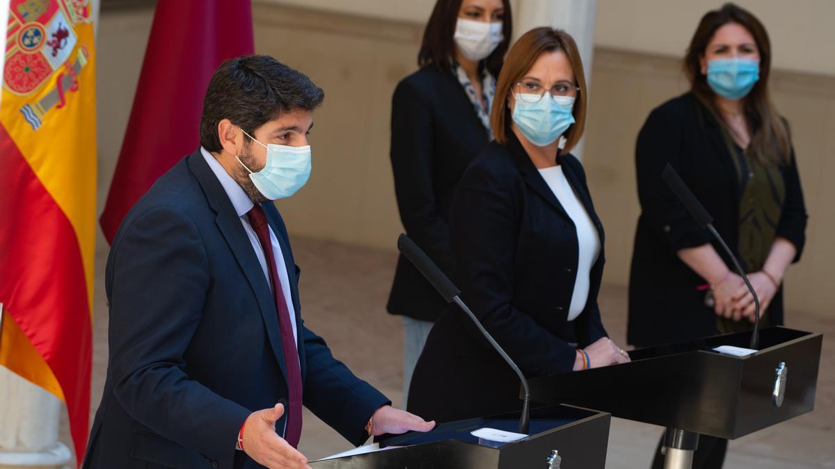 El presidente y la vicepresidenta de la Región de Murcia