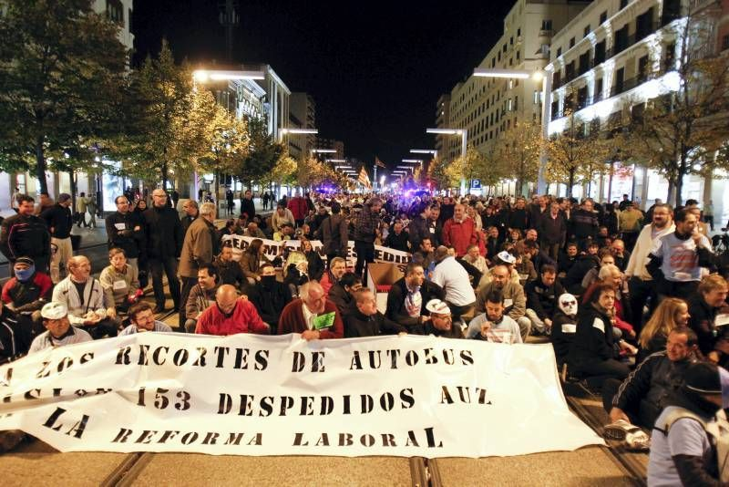 Fotogalería: Manifestación de los trabajadores de AUZ