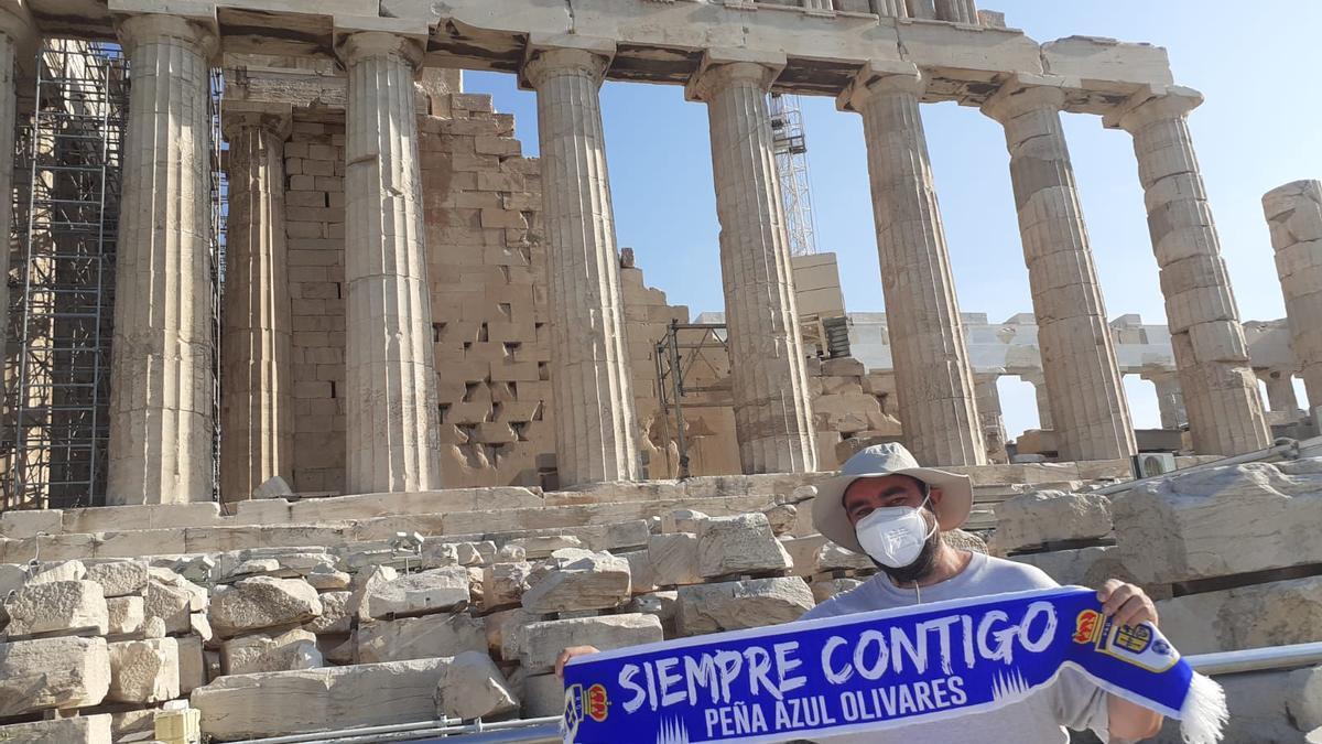 Adolfo Avello, en El Partenón