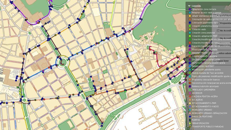 Plan de accesibilidad de itinerarios peatonales de Alicante con 45 rutas y 60 kilómetros