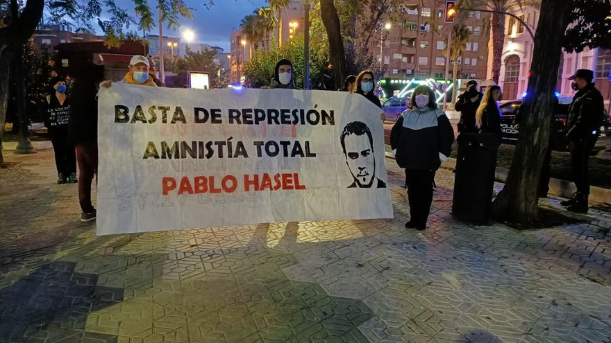 Manifestación para exigir la liberación del rapero Hasél