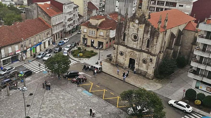 Ponteareas redistribuye el tráfico en la Praza de Bugallal por el inicio de las obras de humanización