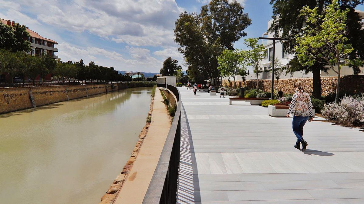 El paseo fluvial de MurciaRío, en una imagen tomada ayer.
