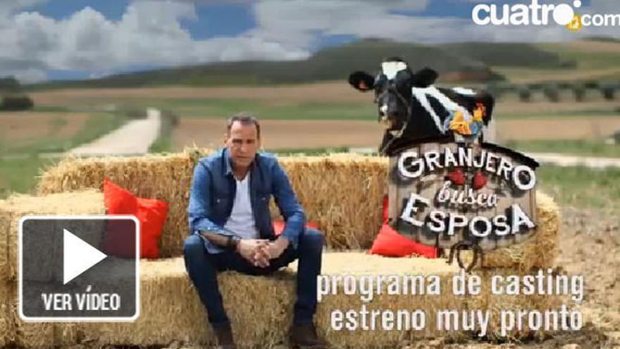 Cuatro lanza la promo de 'Granjero busca esposa' con Carlos Lozano