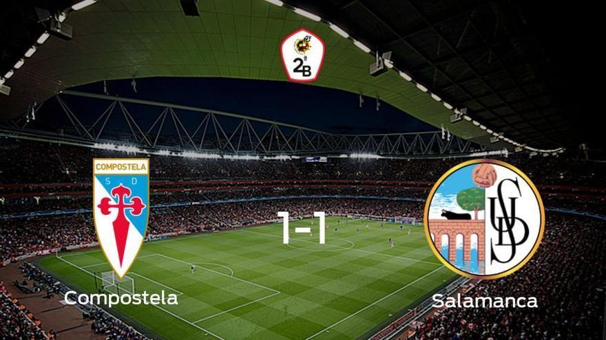 Reparto de puntos en el Estadio Municipal Vero Boquete de San Lázaro: Compostela1-1 Salamanca UDS