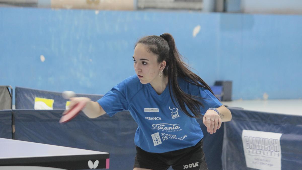 Laura Rodríguez, del Cinania, en un partido de esta temporada.