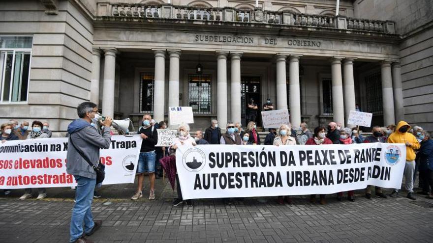 Teis y Chapela llevan su protesta contra la AP-9 hasta Pontevedra