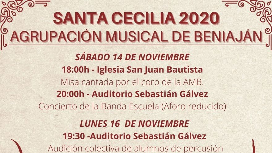 Santa Cecilia Agrupación Musical de Beniaján - 19 de noviembre