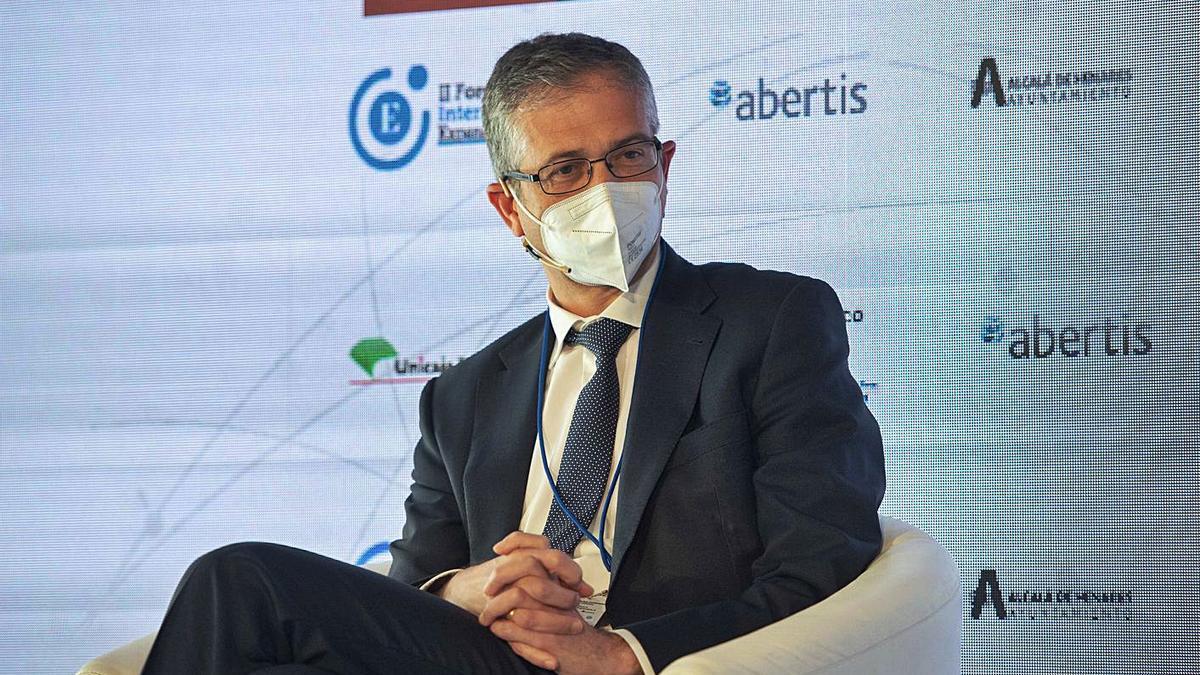 Pablo Hernández de Cos, gobernador del Banco de España, ayer.   E.P./ALBERTO ORTEGA