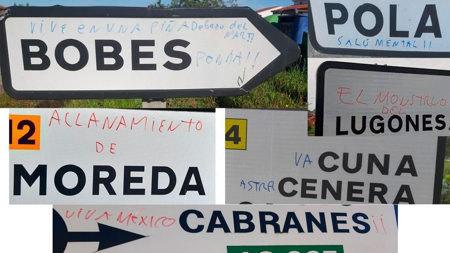"""""""Bobes ponja"""" o """"Donde fueres haz lo que Lieres"""": el humor en los carteles de pueblos sigue su avance"""