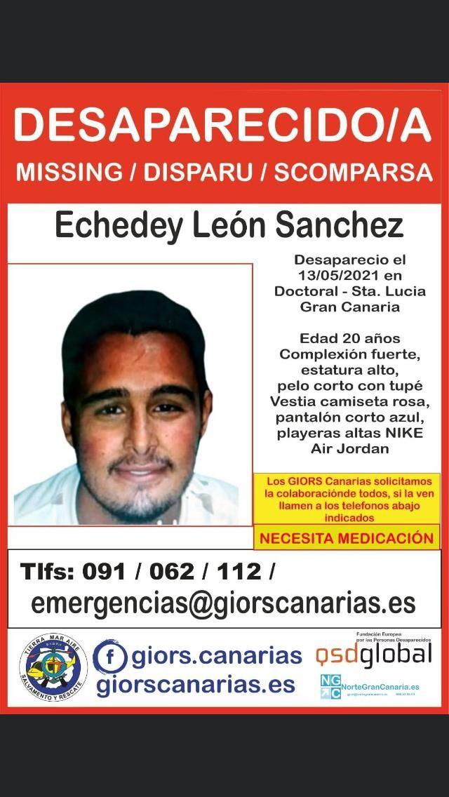 Cartel de la desaparición de Echedey León