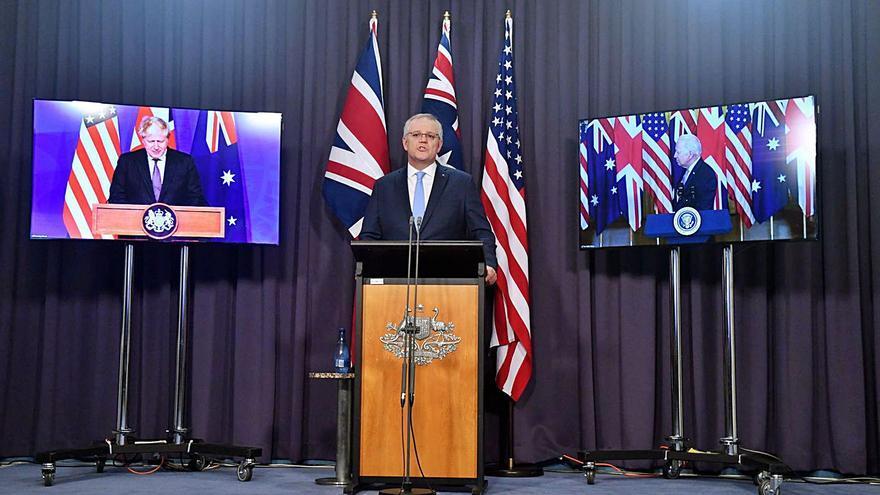 La Xina carrega contra el pacte defensiu dels Estats Units, Austràlia i el Regne Unit