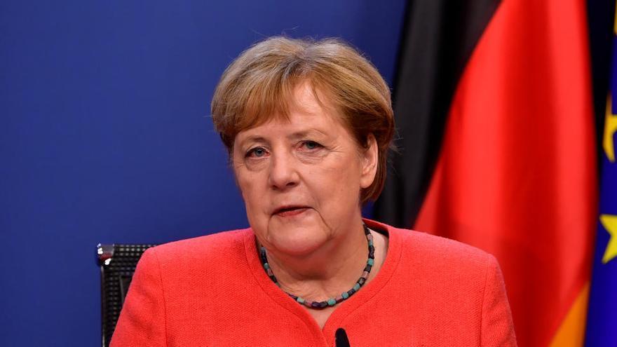 """Merkel: """"No fue fácil, pero al final nos encontramos"""""""