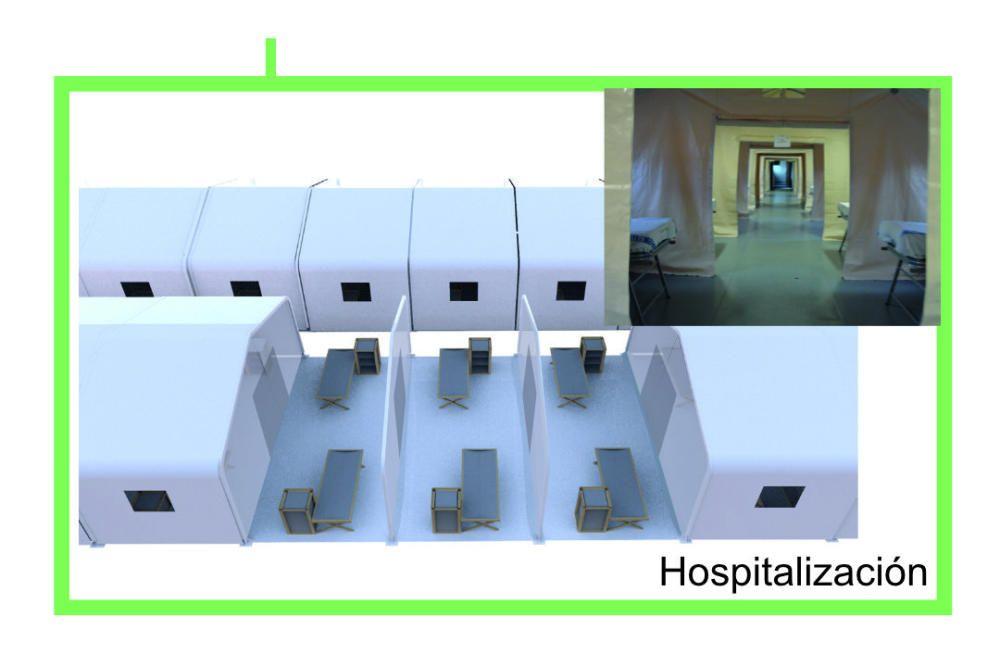 Así serán los hospitales de campaña para infectados por coronavirus en la Comunidad Valenciana