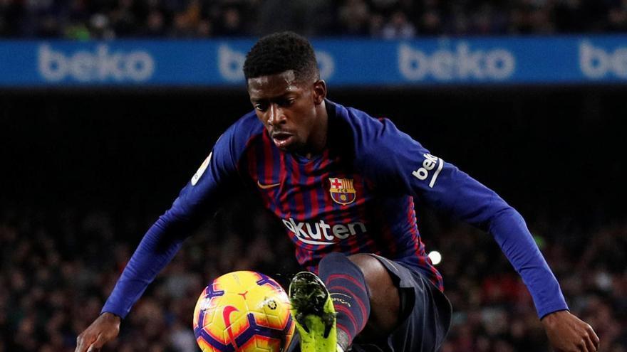 El Barça rebrà prop de 2 milions d'euros per la lesió del francès Dembélé