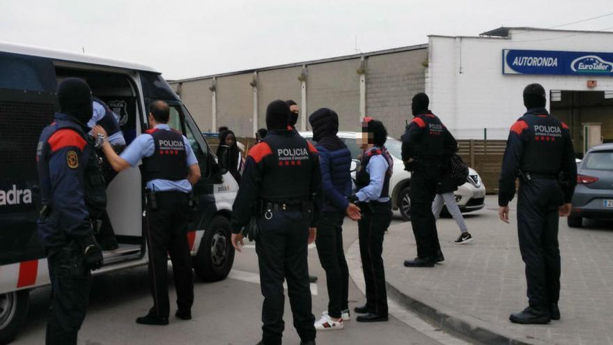 Més de deu detinguts en l'operatiu antidroga dels Mossos a la demarcació