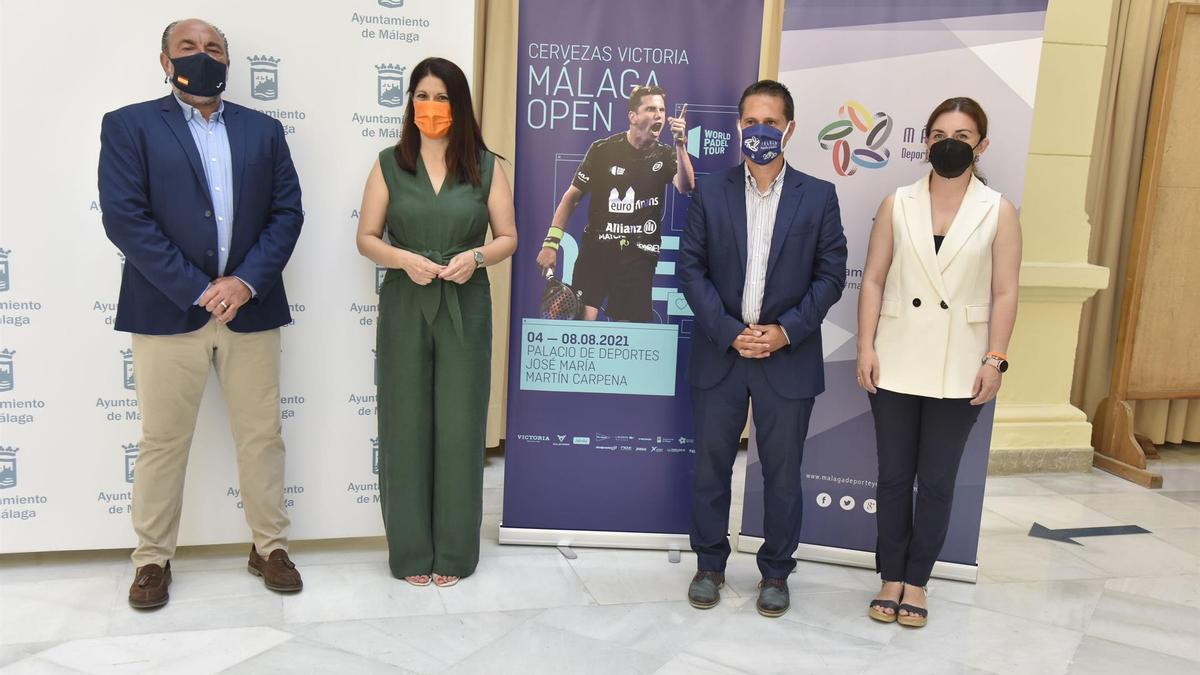 Imagen de la presentación del  Cervezas Victoria Málaga Open, que se celebra en agosto en el Carpena.