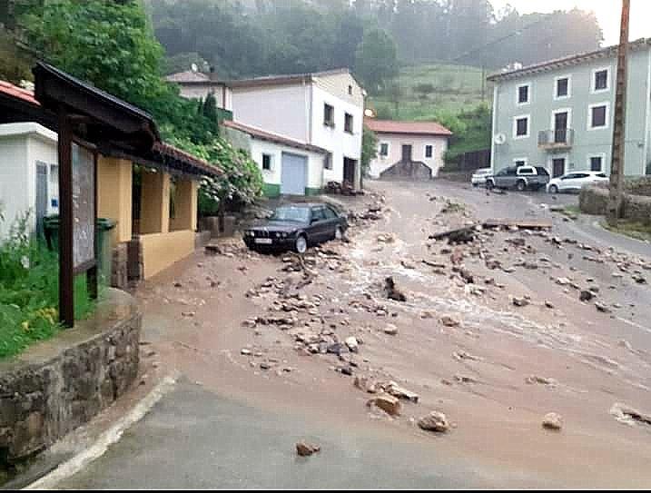 Daños ocasionados por el temporal en Purón