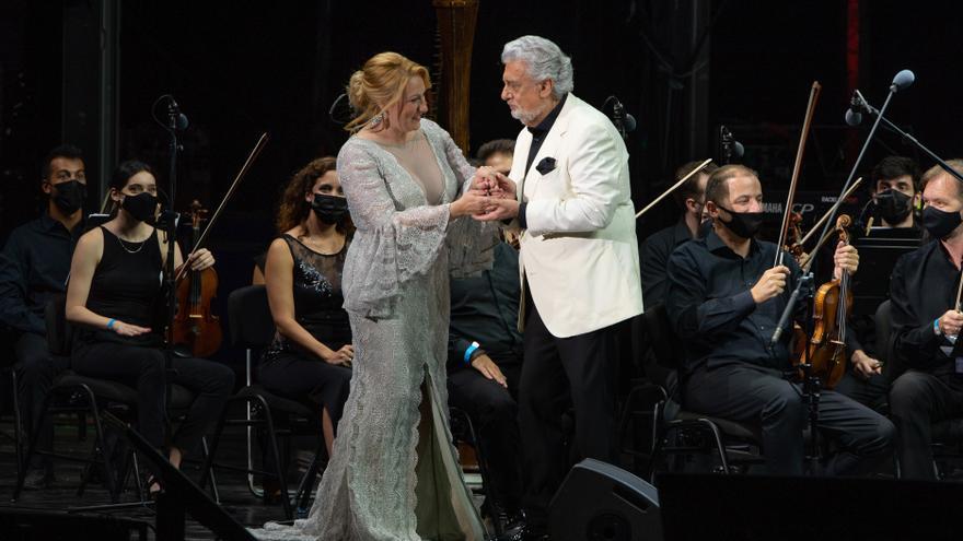 Plácido Domingo actuó junto a la Orquesta Sinfónica de Málaga en el festival Starlite