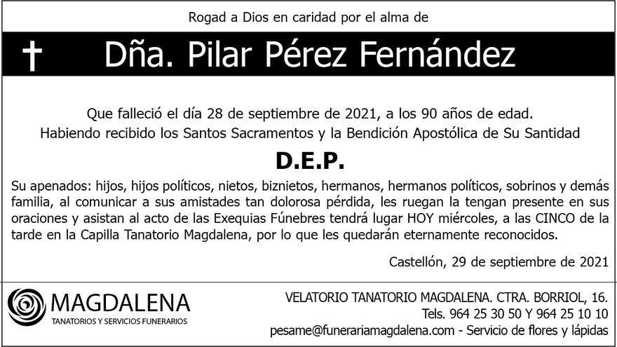 Dña. Pilar Pérez Fernández