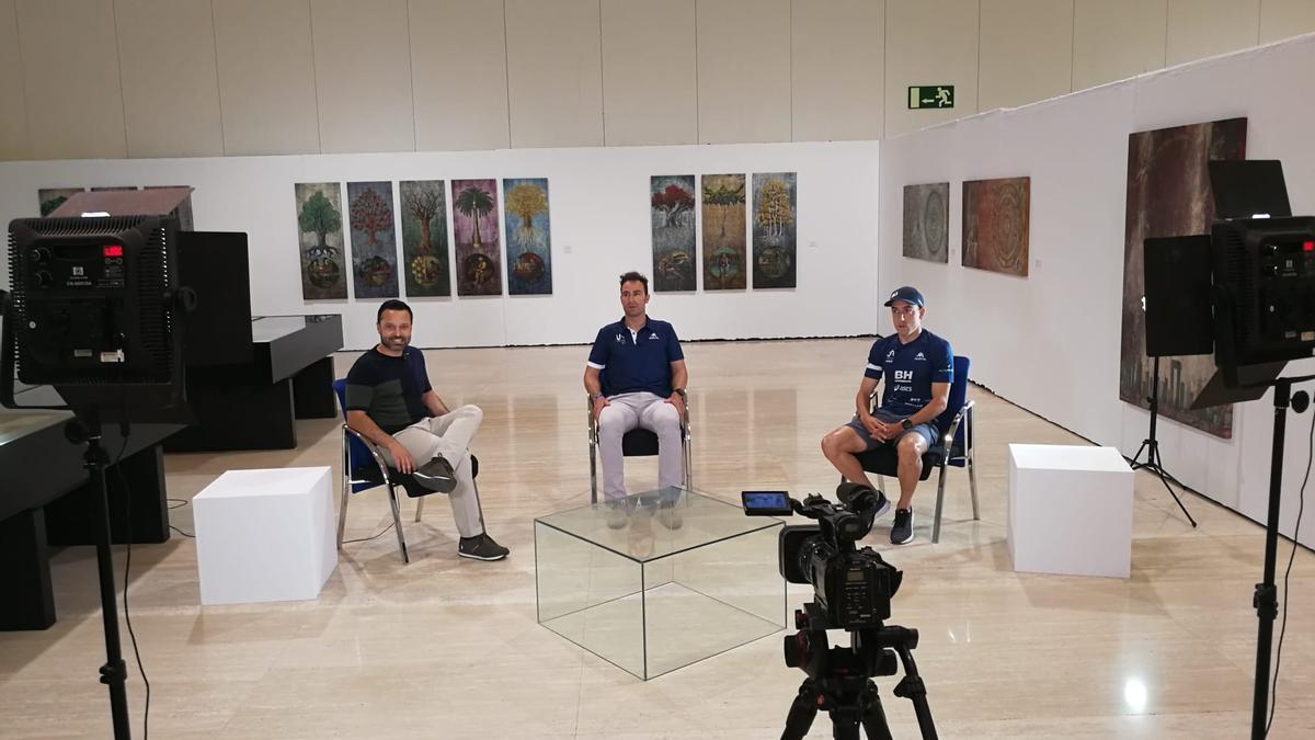 Imagen durante la grabación de la entrevista