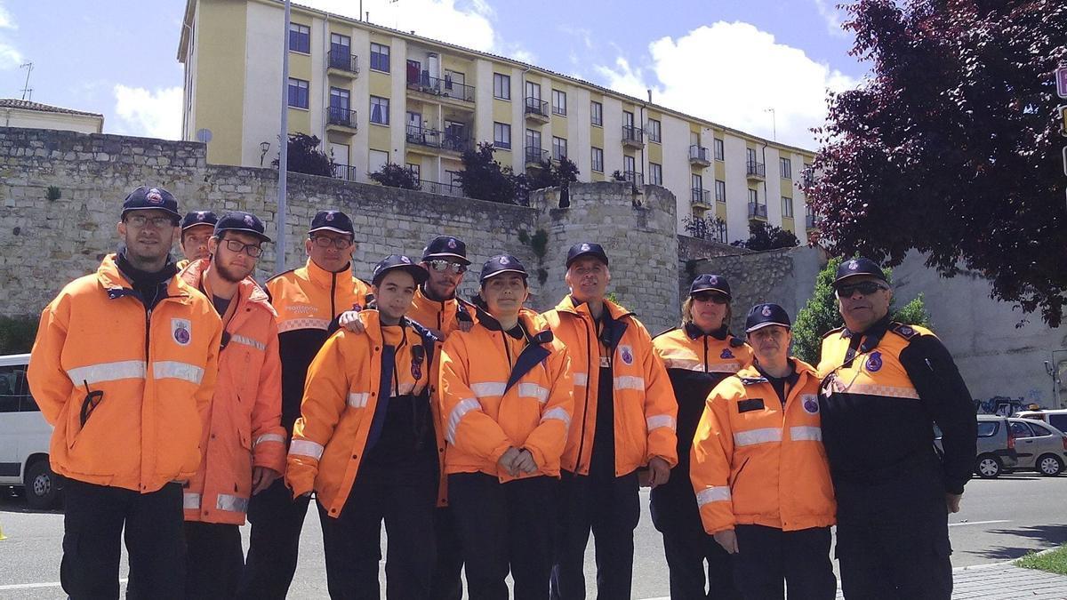 Equipo de voluntarios de Protección Civil al que pertenecía el joven fallecido.