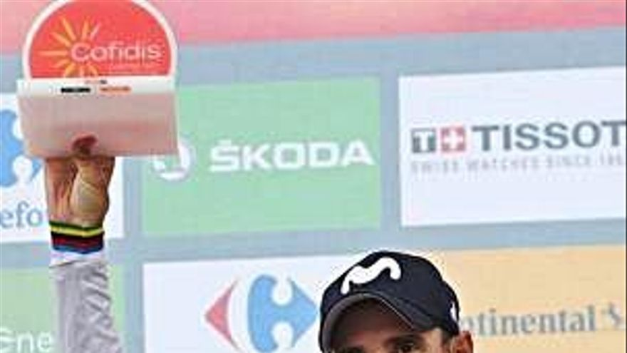 Valverde venç a l'esprint i Miguel Ángel López  torna a ser líder