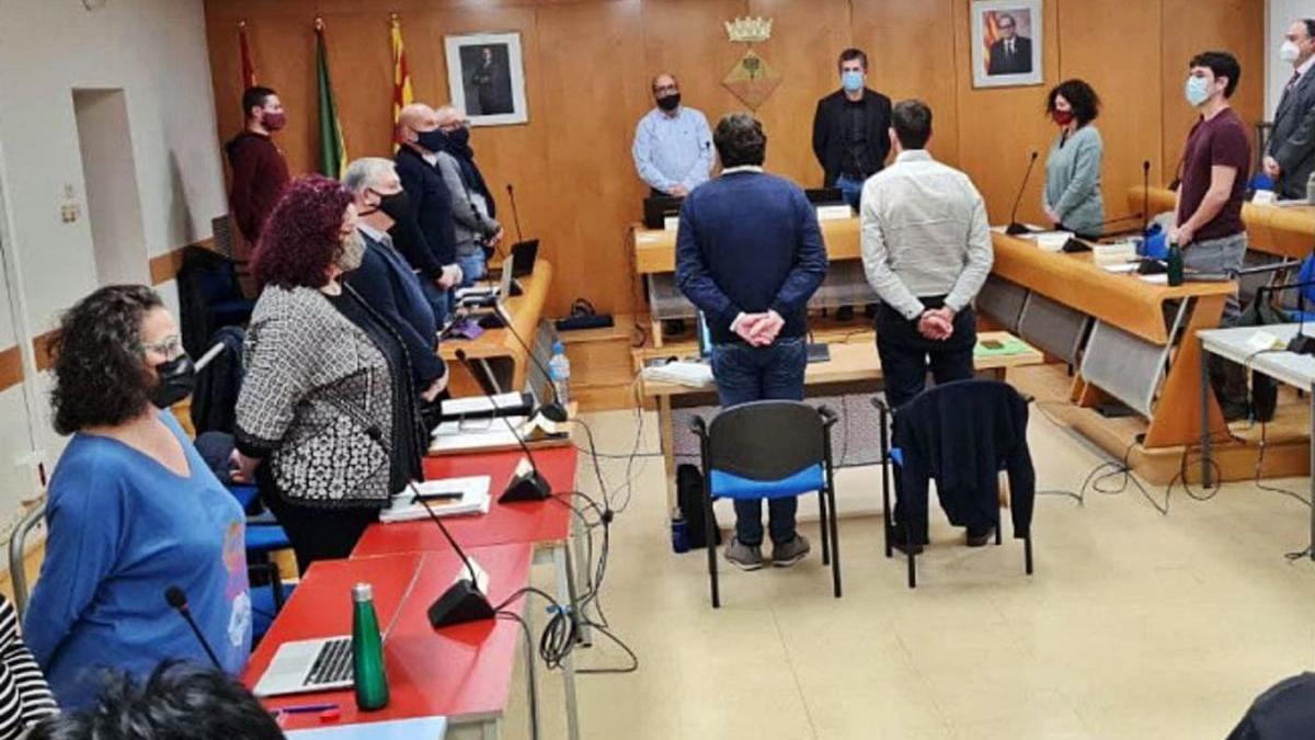 Els regidors del ple de l'Ajuntament d'Olesa, dijous passat