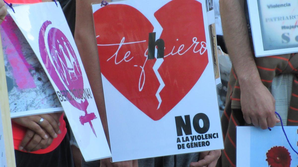 Concentración contra la violencia de género.