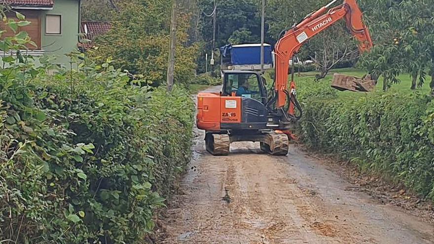 Quejas vecinales en Ñora por el corte del acceso a causa de las obras de saneamiento para la zona
