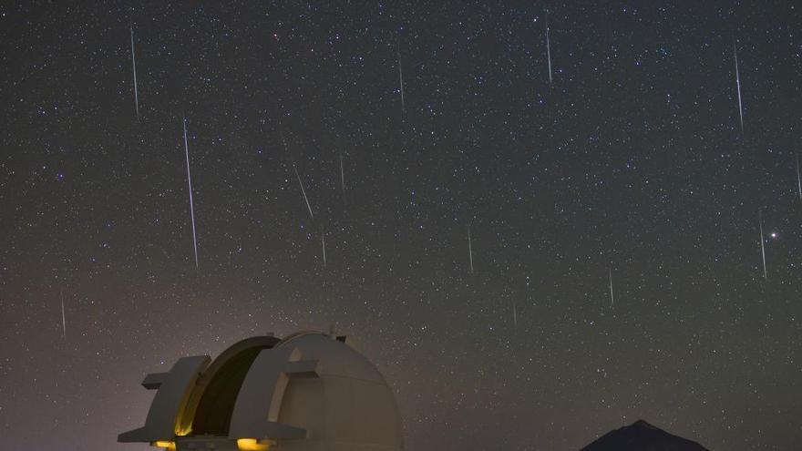 Cien meteoros atravesarán el cielo de las Islas cada hora el domingo