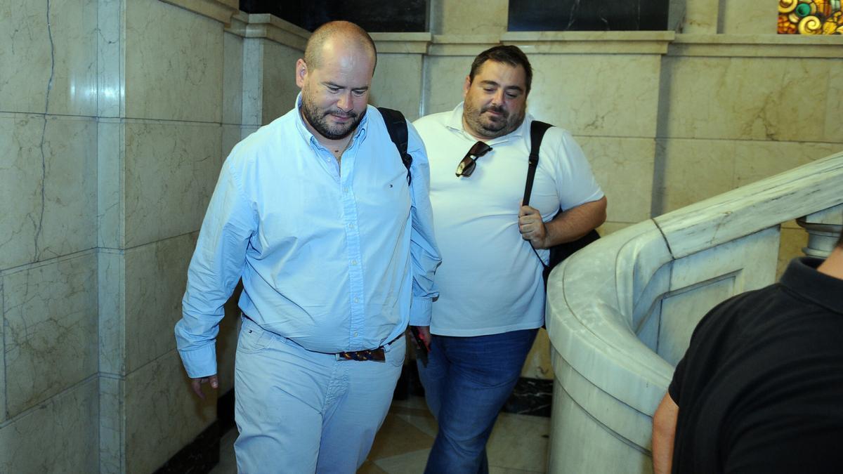 Raúl Moro con Pedro Contreras