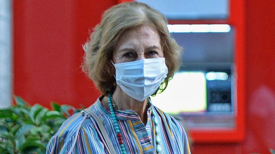 La reina Sofía vuelve a Madrid tras unos días en Mallorca