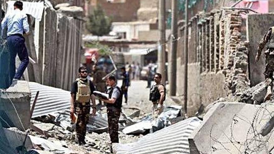 Un atac d'Estat Islàmic  a un temple de Kabul  deixa almenys 25 morts
