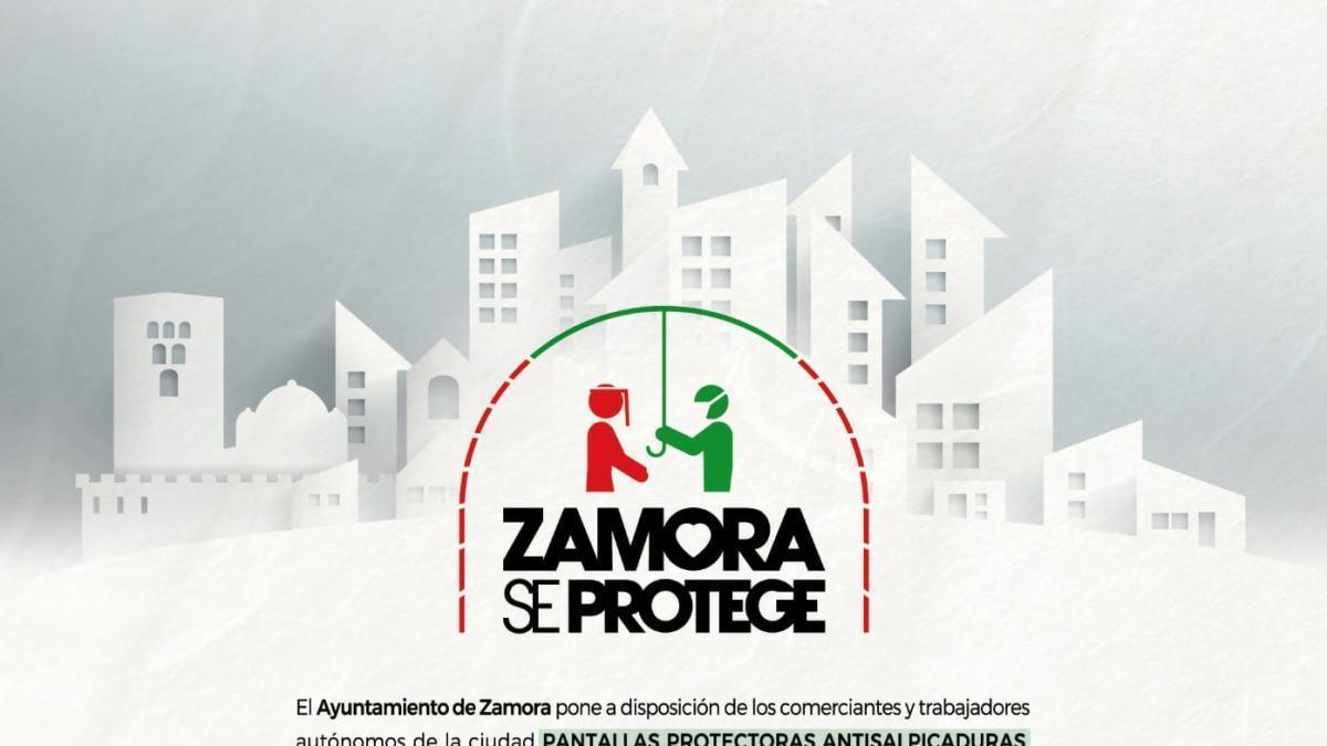 El Ayuntamiento de Zamora entrega pantallas protectoras a los comerciantes