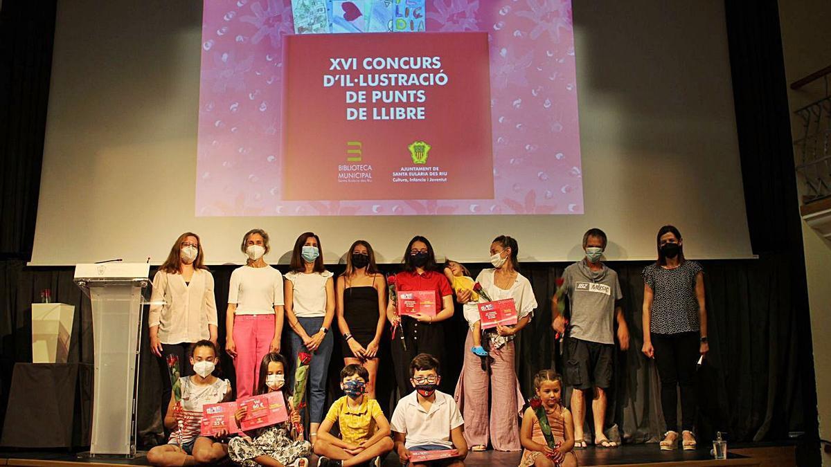 Entrega de premios del concurso de puntos de libro de Santa Eulària.