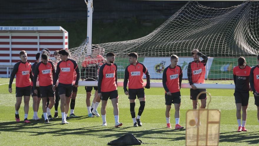 Cumic no se entrena y podría ser baja en el Sporting frente al Espanyol