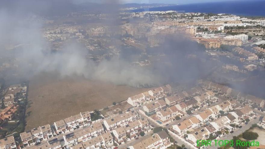 Extinguido el incendio forestal en Marbella
