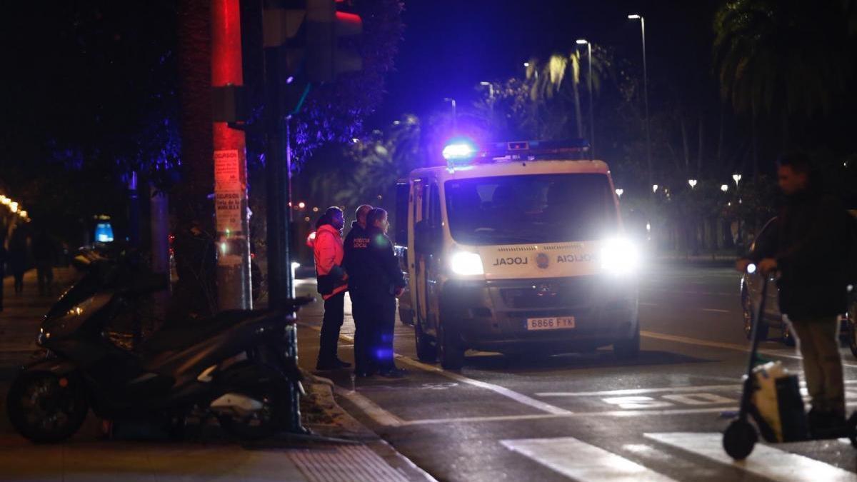 Un herido tras ser atropellado por una moto en la avenida del Flamenco