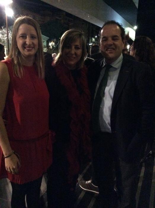 Ana Gosálvez, Gema Amor, concejala de Benidorm, y Carlos Baño